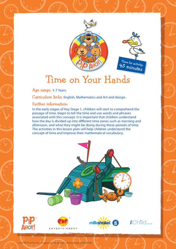 Key Stage 1 Lesson Plan: Time On Your Hands (Pip Ahoy!)