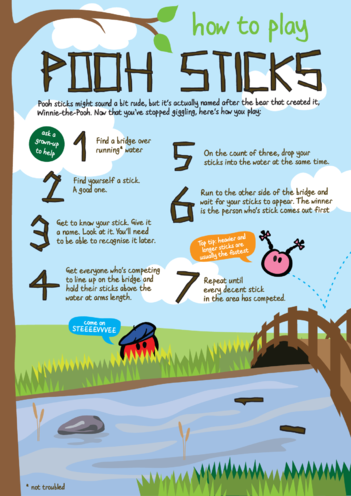 Thumbnail image for the innocent - Pooh Sticks activity.