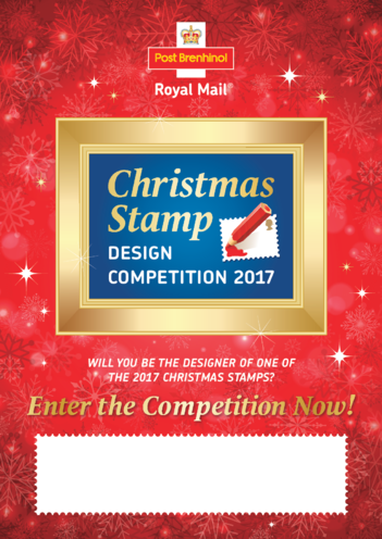 Thumbnail image for the *2017_Christmas Stamp Design Competition Poster (Wales) activity.