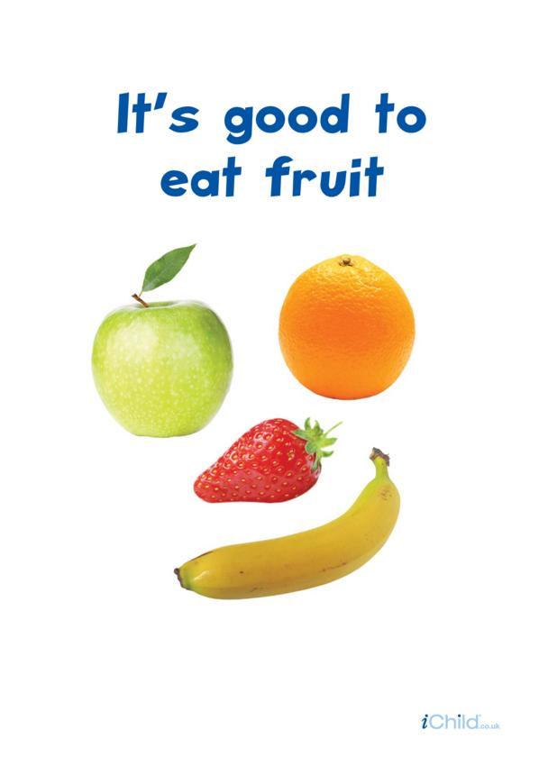 It's Good to Eat Fruit