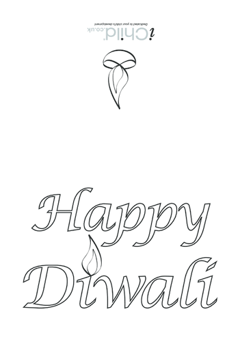 Thumbnail image for the Diwali Card activity.