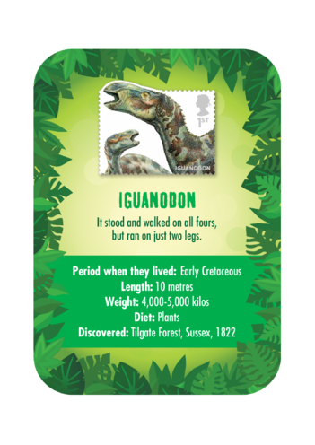 Thumbnail image for the Dinosaur Fact Card- Iguanodon (A4) activity.