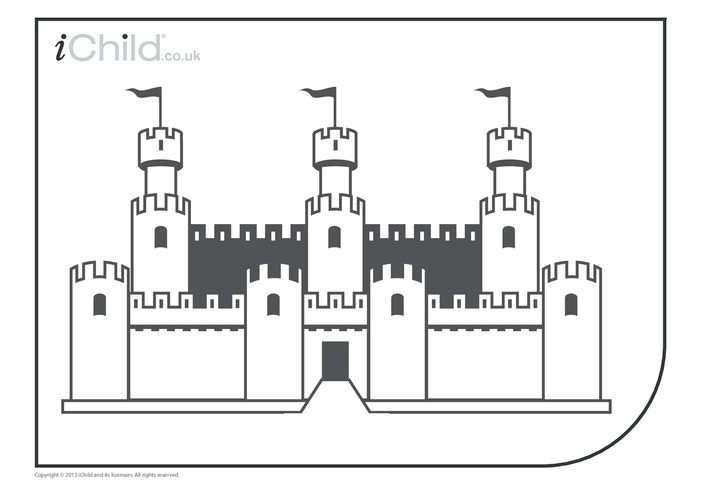 Thumbnail image for the Castle Colouring in picture activity.