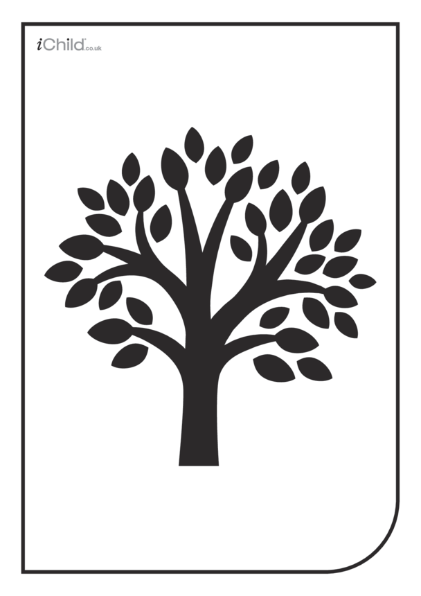 White & Black Poster: Tree