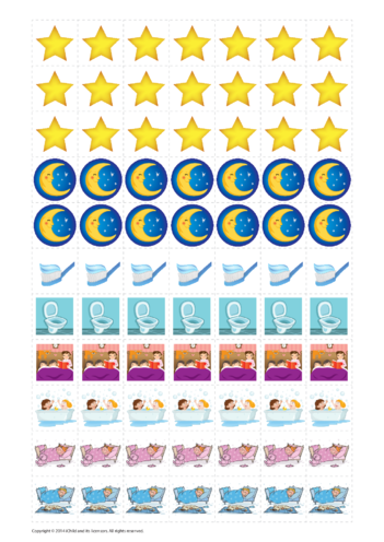 Thumbnail image for the Bedtime Reward Chart Sticker Sheet activity.