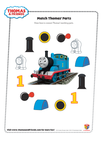 Thumbnail image for the Match Thomas' Parts (Thomas & Friends) activity.