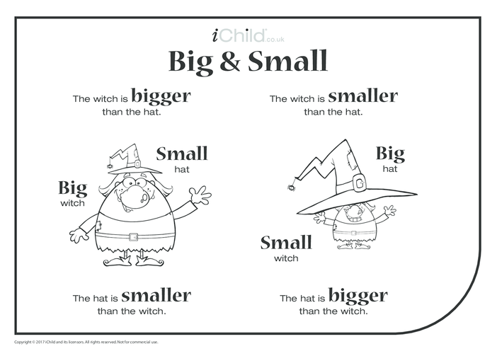 Thumbnail image for the Big & Small - Witch & Hat activity.