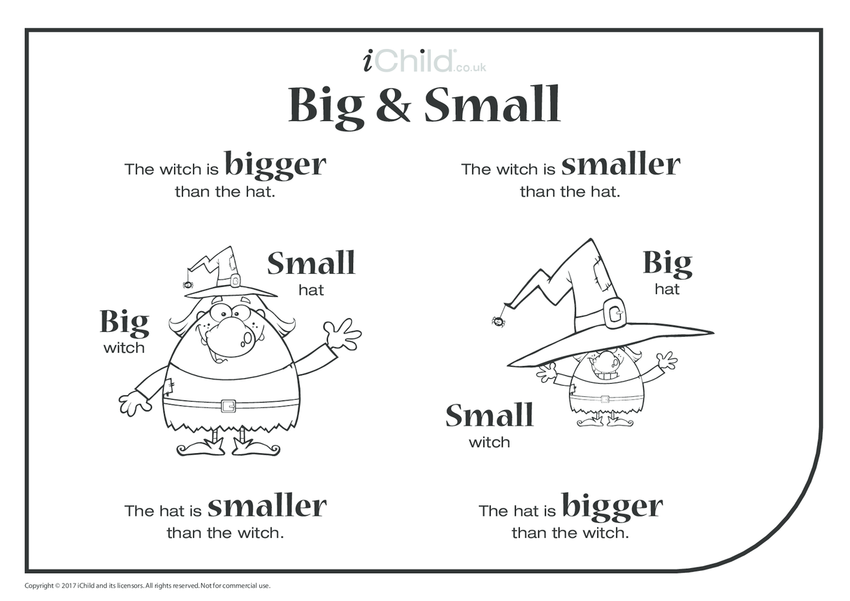 Big & Small - Witch & Hat