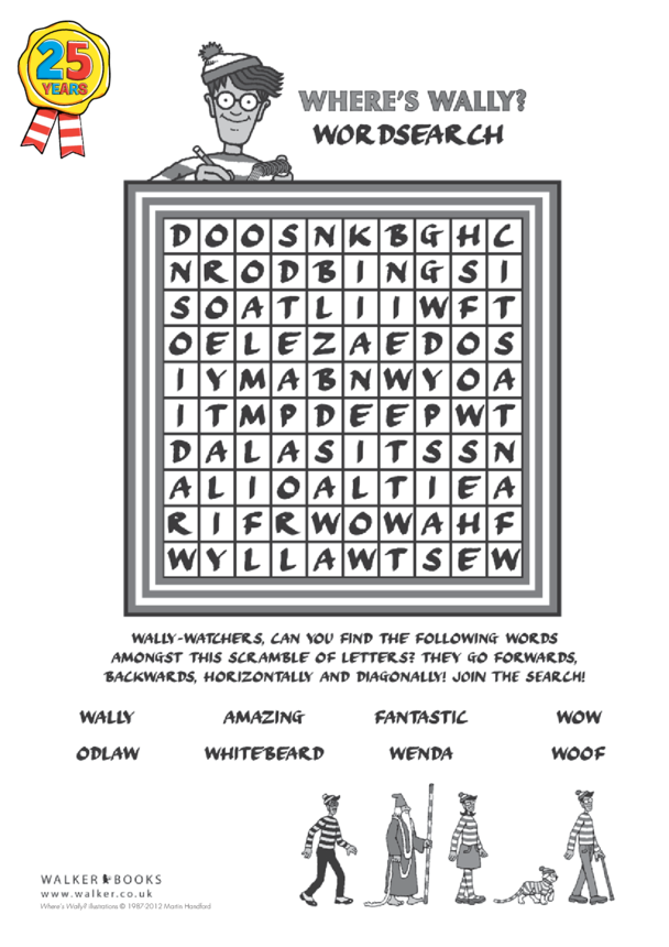 Where's Wally? Wordsearch