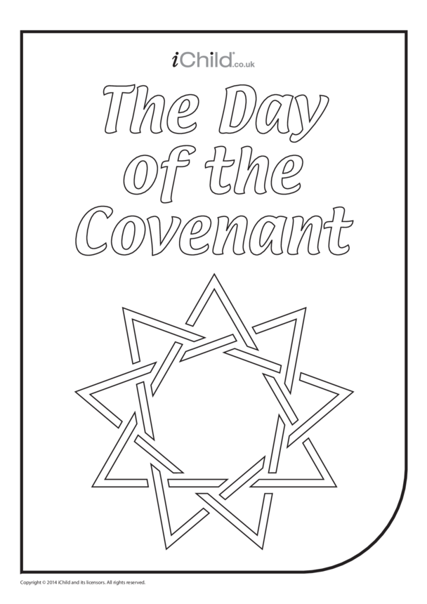 Day of the Covenant 9-Pointed Star Colouring in Picture