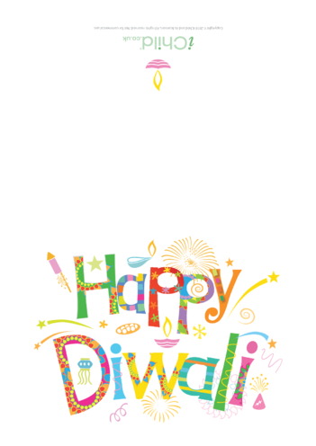 Thumbnail image for the Happy Diwali Card (full colour) activity.