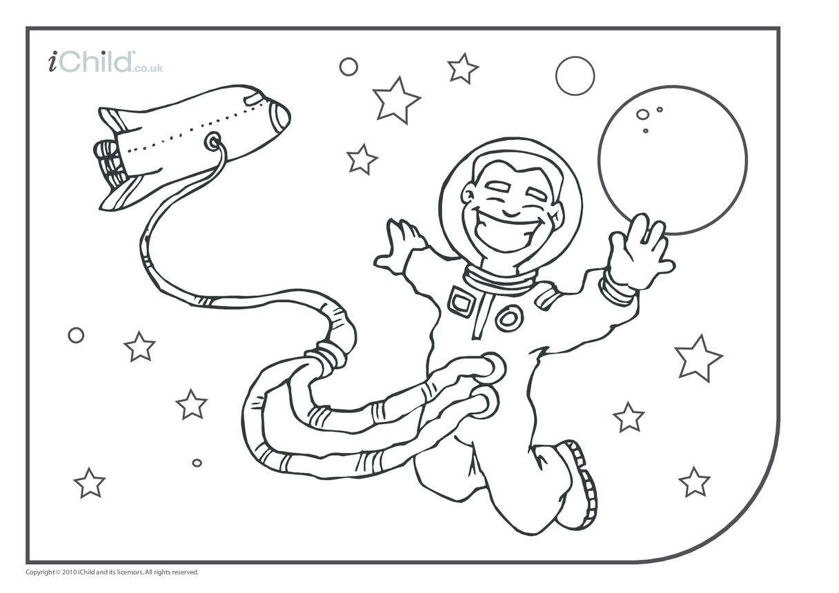 Astronaut Colouring in picture