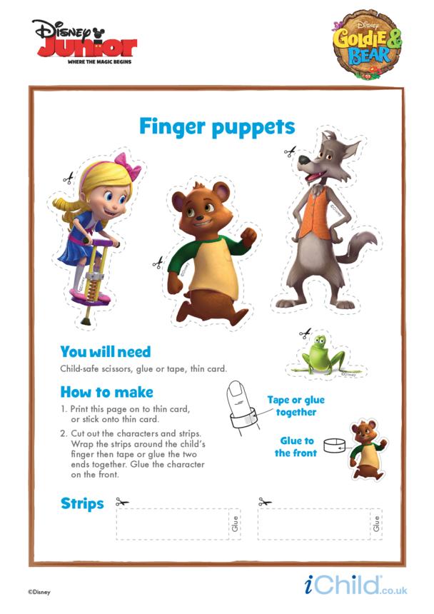 Goldie & Bear: Finger Puppets- Disney Junior