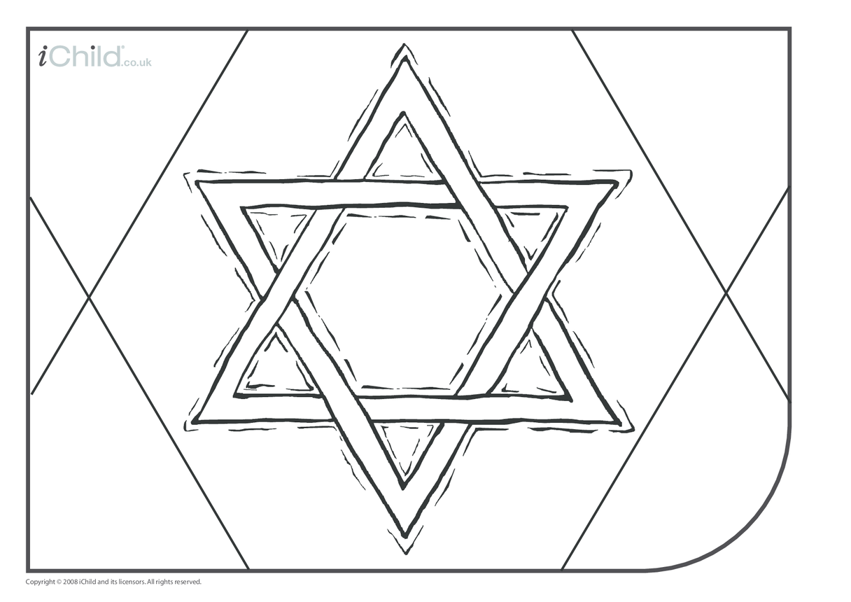 Star of David Colouring in picture