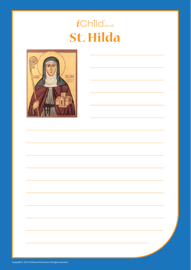 St. Hilda Lined Writing Paper Template