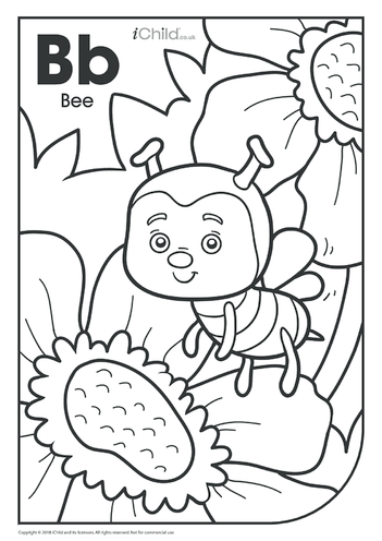 Thumbnail image for the B is for Bee Colouring in Picture activity.