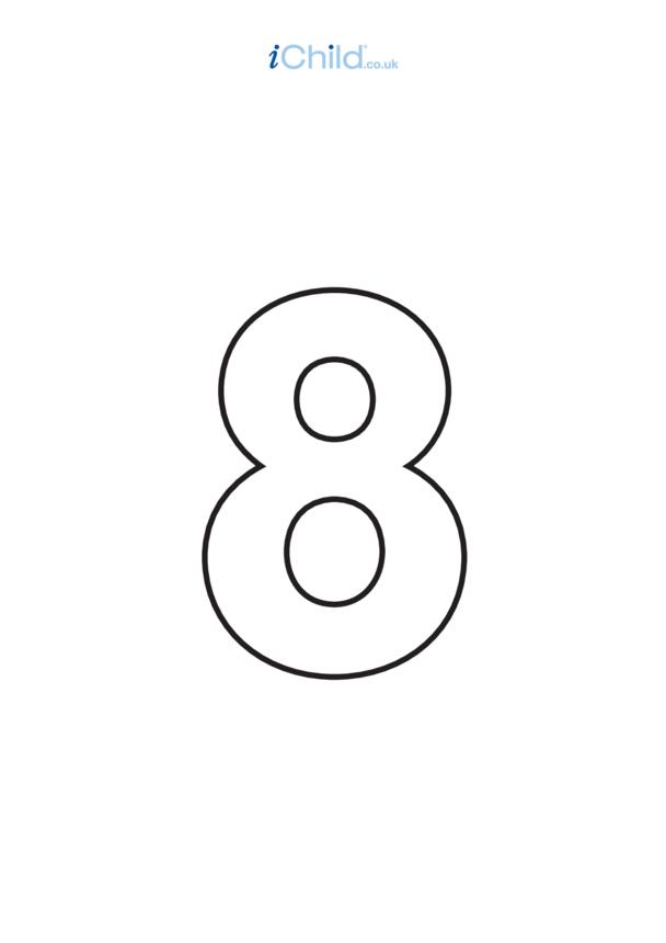 08: Poster - Number 8, Black & White