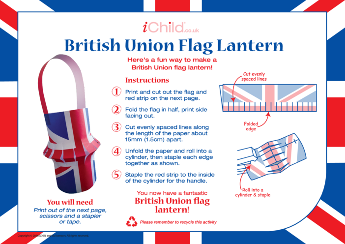 Thumbnail image for the British Union (Union Jack) Lantern activity.