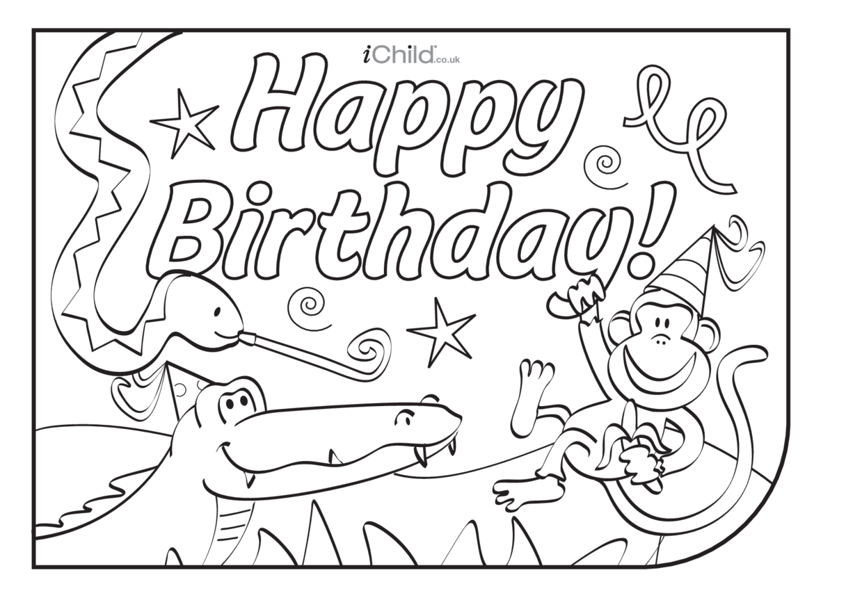 Birthday Party Place Mats - Jungle