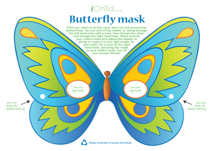 Thumbnail image for the Butterfly Mask (Blue) activity.
