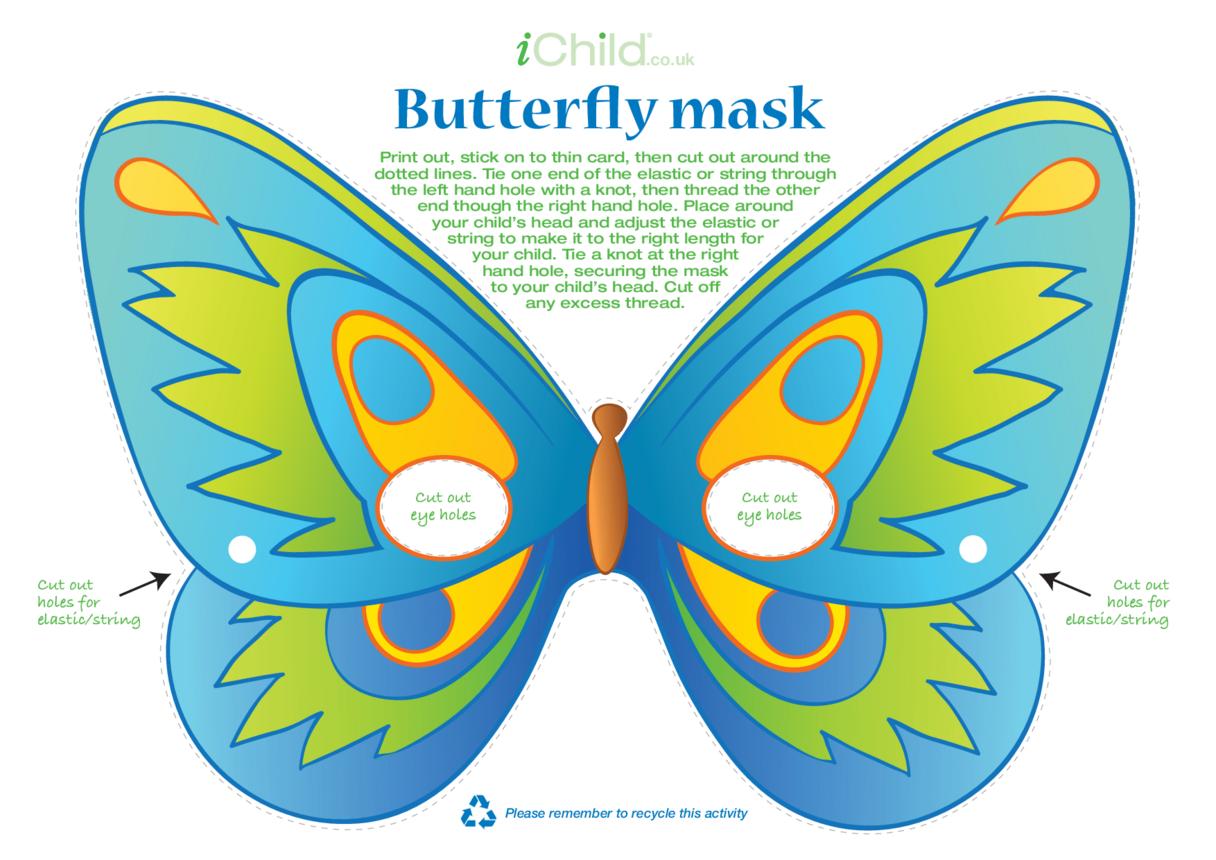 Butterfly Mask (Blue)