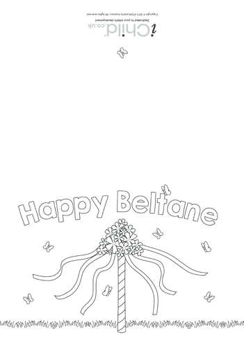 Thumbnail image for the Happy Beltane Card activity.