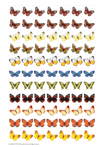 Thumbnail image for the Butterfly Reward Chart Stickers activity.