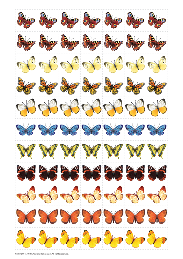 Butterfly Reward Chart Stickers