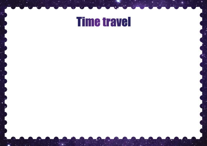 Thumbnail image for the Primary 1) Time Travel Drawing Template activity.