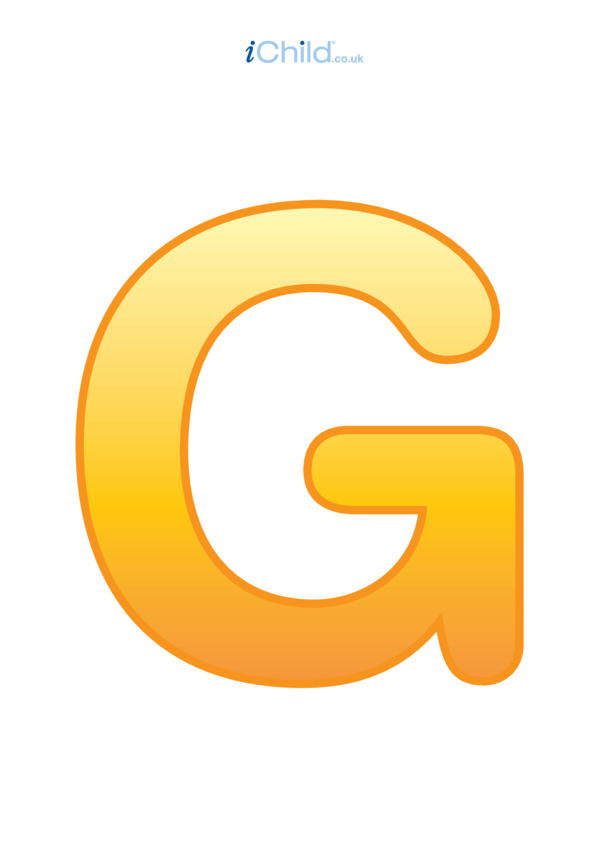 G: Poster of the Letter 'G'