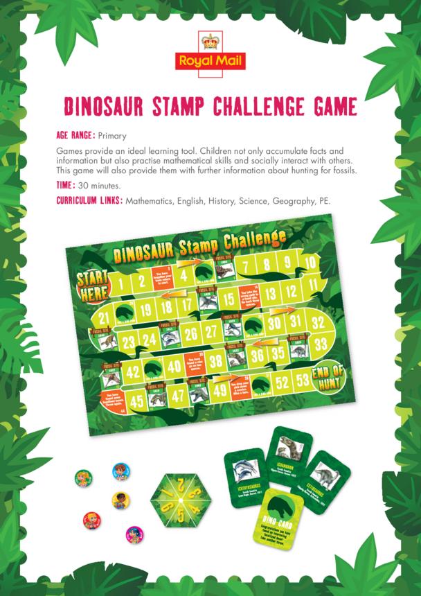 Primary 5) Dinosaur Stamp Challenge Lesson Plan
