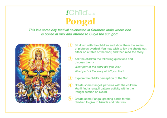 Thumbnail image for the Pongal Religious Festival Story activity.