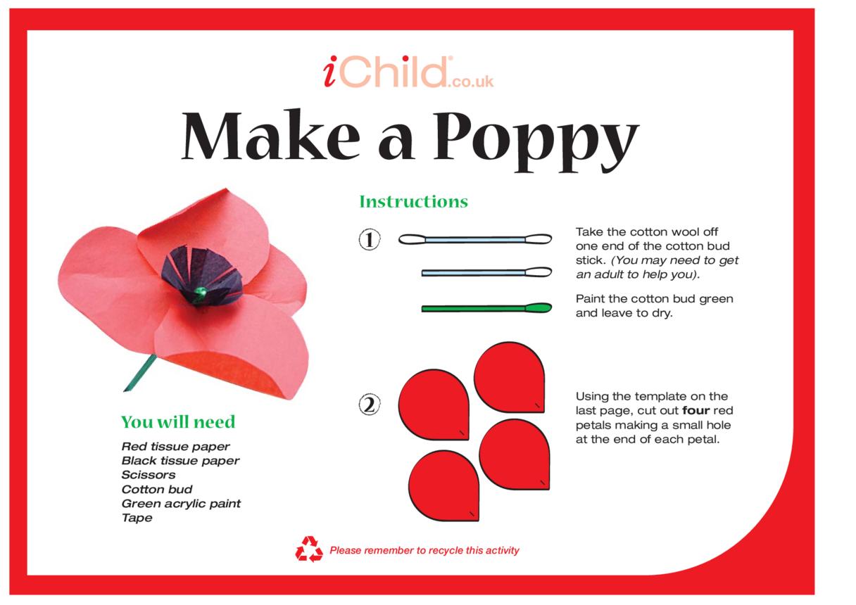 Make a Remembrance Day Poppy