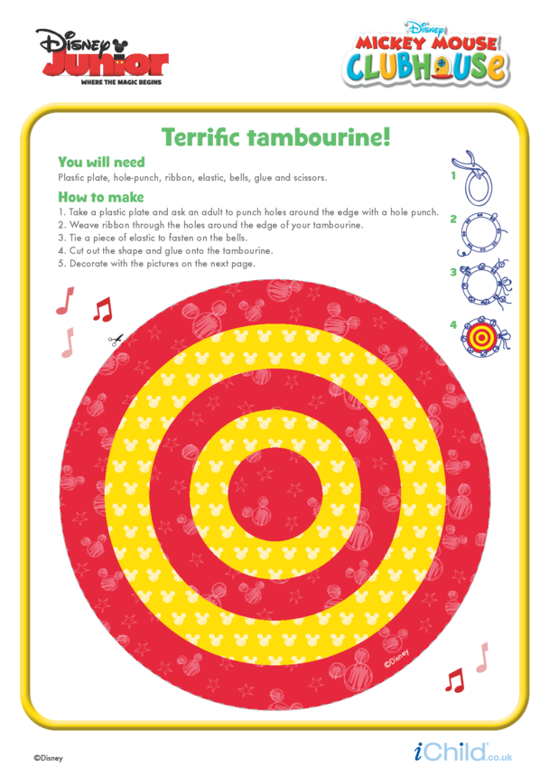 Mickey Mouse Clubhouse: Tambourine Craft- Disney Junior