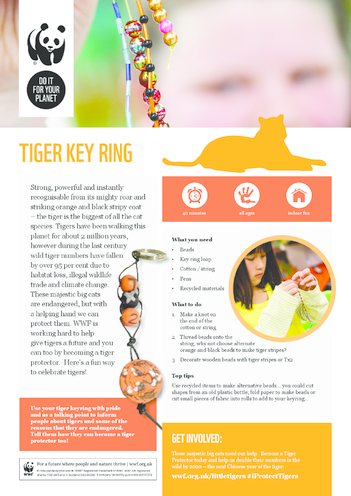Thumbnail image for the WWF Tiger Key Ring activity.