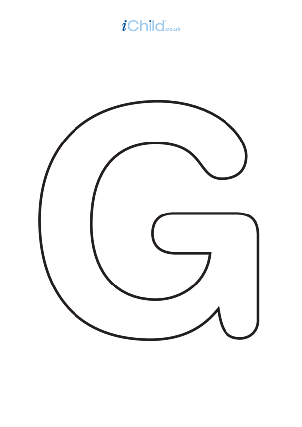 G: Poster of the Letter 'G', black & white