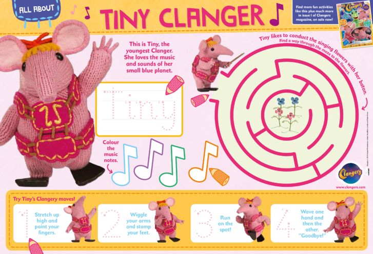 Thumbnail image for the All about ... Tiny Clanger activity.