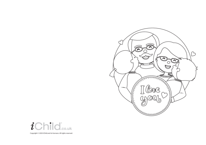 Thumbnail image for the I Love You Card (black & white) activity.