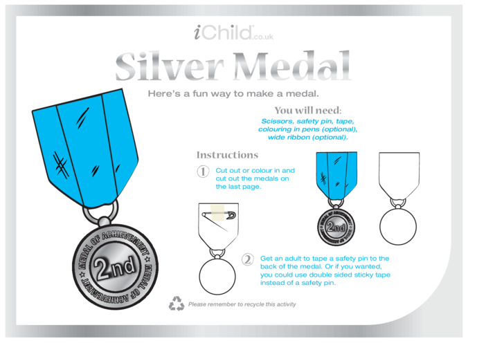 Thumbnail image for the Make a Silver Medal activity.