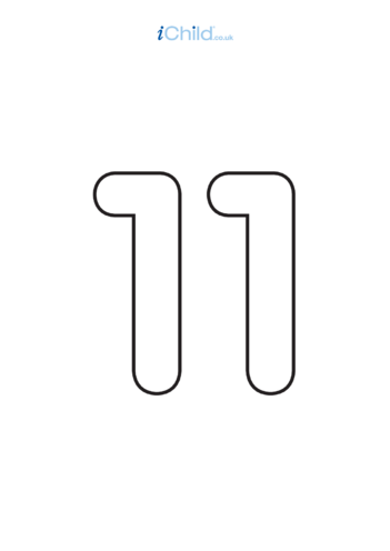 Thumbnail image for the 11: Poster - Number 11, Black & White activity.