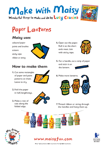 Thumbnail image for the Maisy Paper Lanterns activity.
