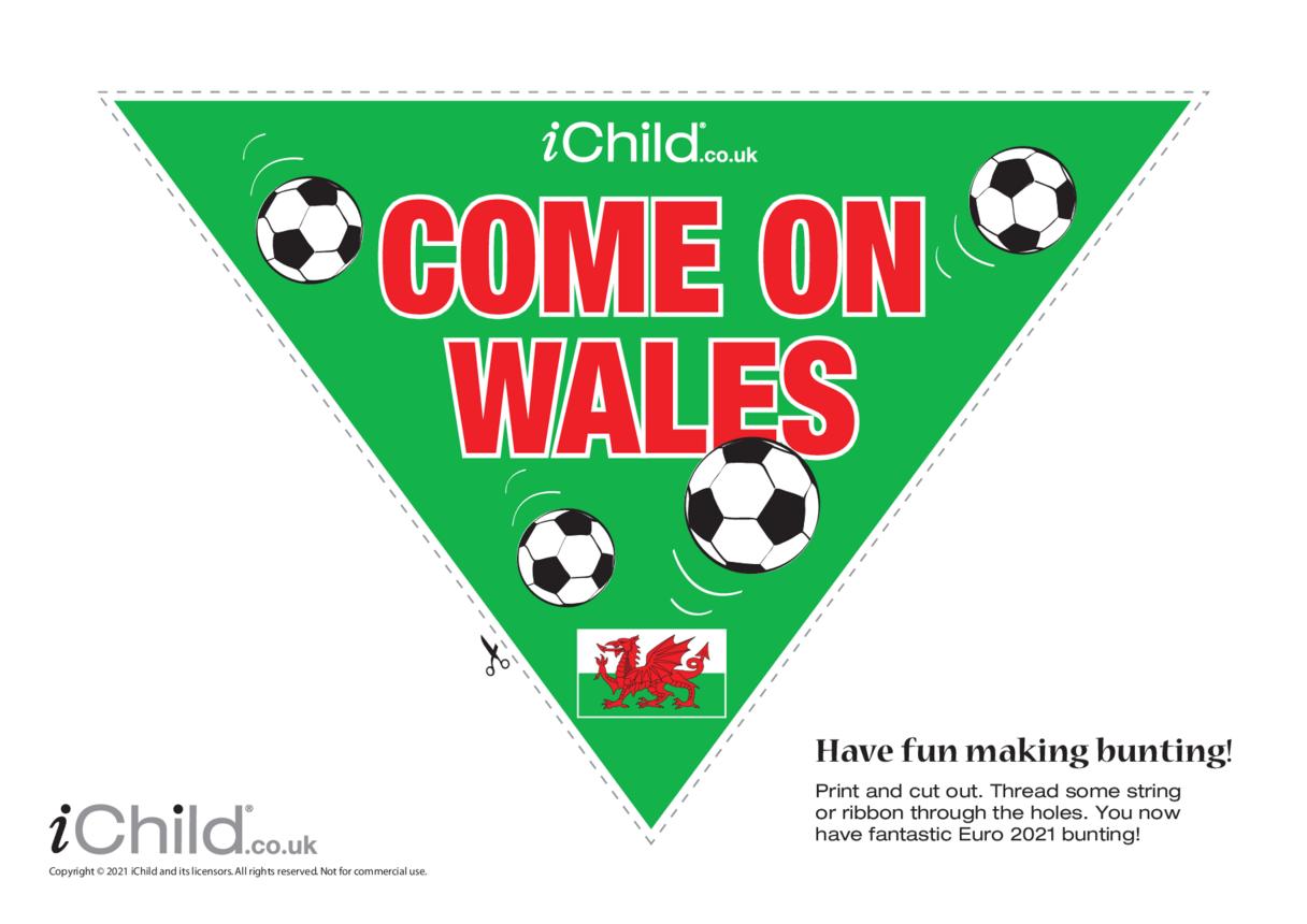 Cymru (aka Wales) Football Bunting