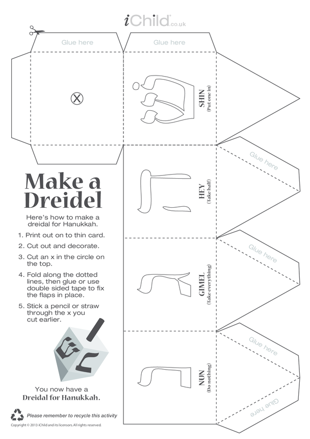 Dreidel Craft Game
