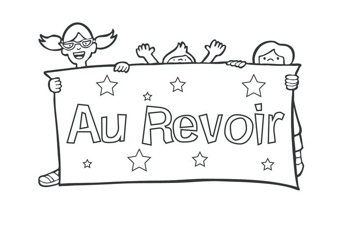 Thumbnail image for the Goodbye in French (black & white) - Signs & Posters activity.