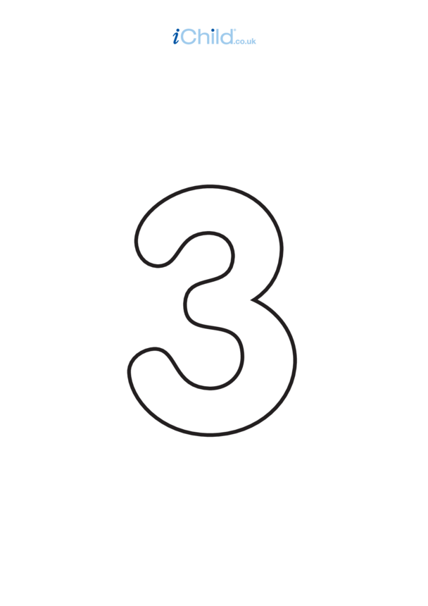 03: Poster - Number 3, Black & White