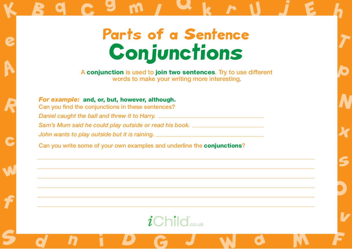 Parts of a Sentence: Conjunctions