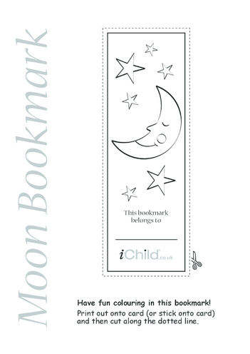 Thumbnail image for the Moon Bookmark activity.