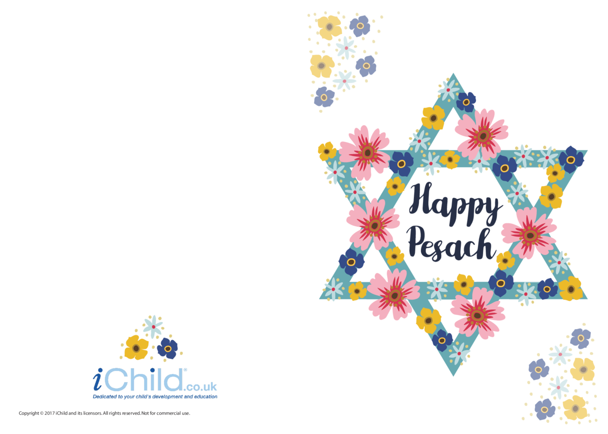 Happy Pesach - Passover Card (colour)