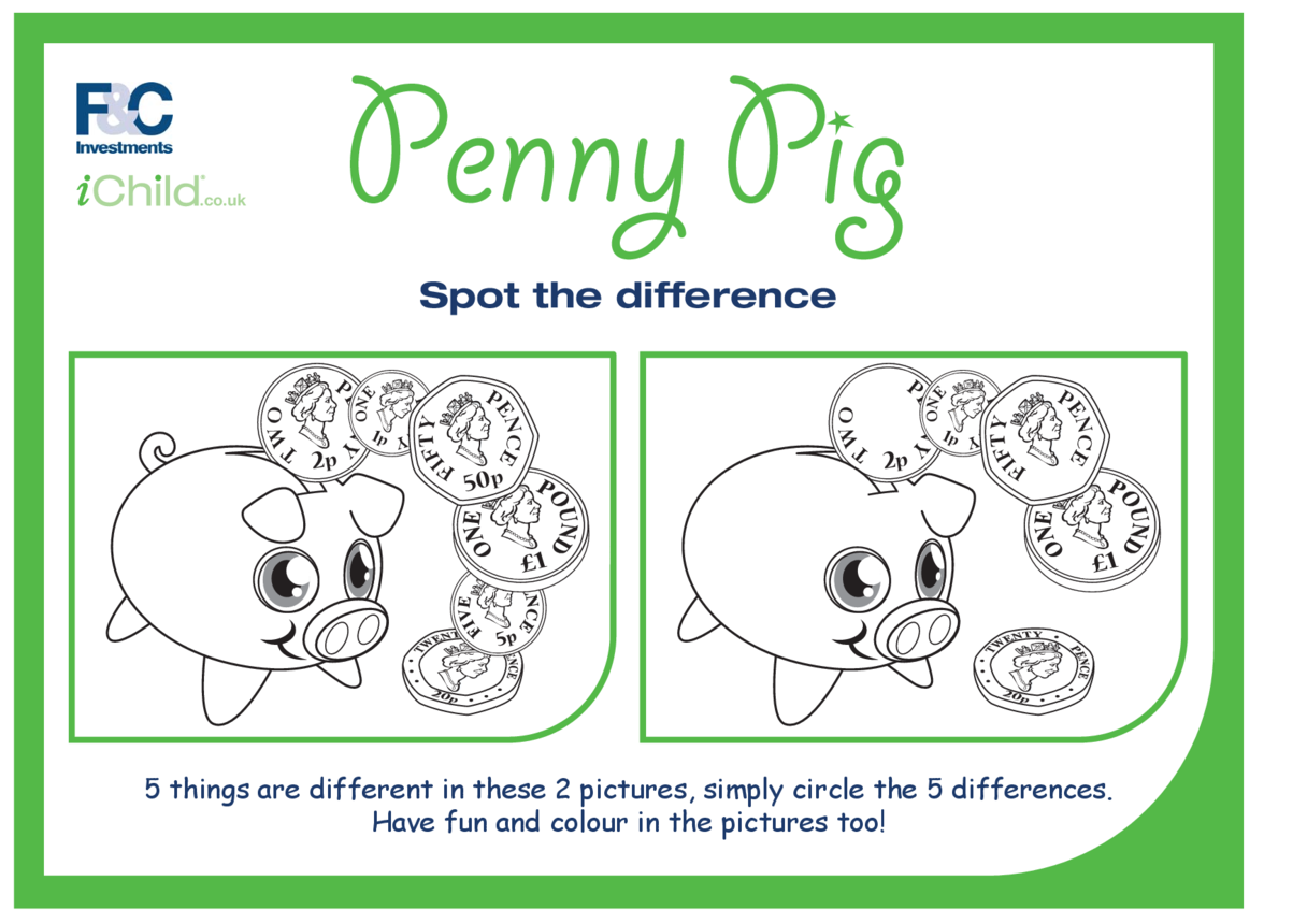 Penny Pig Spot the Difference