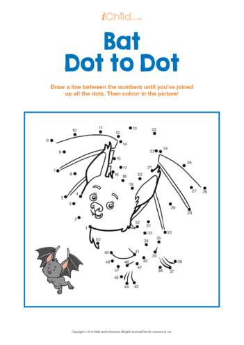 Thumbnail image for the Bat Dot to Dot activity.